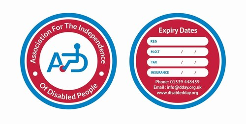 Association for the Independence of Disabled People Raises Funds for Motor Neurone Disease Drug Trial With Launch of Memory AID Tax Disc (PRNewsFoto/AID) (PRNewsFoto/AID)