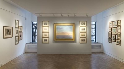Current installation of etchings by Hermann Struck at Nathan A. Bernstein & Co.
