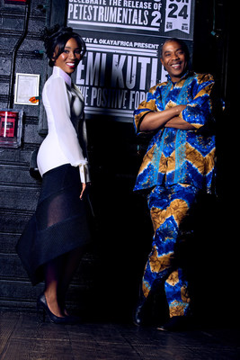 (From Left to Right): Eunice Omole and Femi Kuti