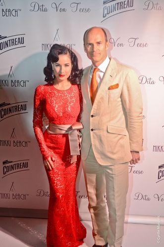 Dita Von Teese e Cointreau no festival de cinema de Cannes 2013