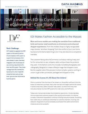 Data Masons' EDI case Study on DVF and Their Dynamics AX Integration