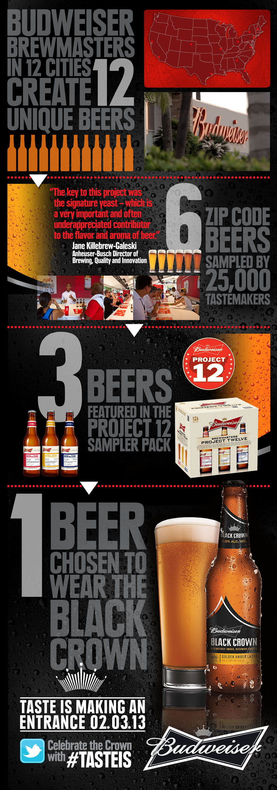 El 'Rey de las Cervezas' lanza Budweiser Black Crown el 21 de enero; primer anuncio publicitario