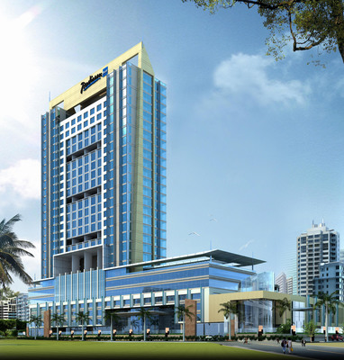 Rendering of the 275-room Radisson Blu Hotel Mumbai Malad, India expected to open 2014.  (PRNewsFoto/Carlson)