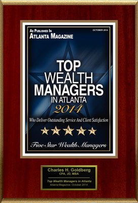 "Charles Goldberg, CPA, JD, MBA Selected For ""2014 Top Five Star Wealth Managers In Atlanta"""
