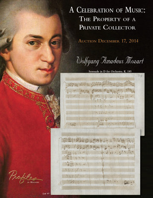 The Celebration Of Music: The Property of A Private Collector. Profiles in History Auction December 17, 2014.  www.profilesinhistory.com
