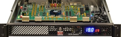 GDN Switch-100 on Altera 100G Stratix® V GX Board (PRNewsFoto/Algo-Logic Systems, Inc.)