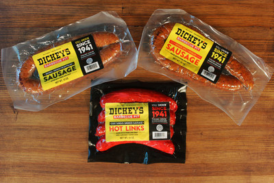 Dickey's Barbecue Pit now sells three types of sausages in Walmart stores nationwide