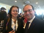 President of France Mr. Francois Hollande and Ms. Inna Braverman, Co Founder of Eco Wave Power, at the United Nations Climate Summit