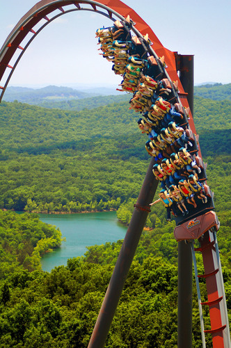 Silver Dollar City, an international award-winning theme park, offers more than 30 rides and attractions from big thrill coasters, including the multi-looping WildFire and the groundbreaking wood coaster Outlaw Run, to family rides. (PRNewsFoto/Silver Dollar City)