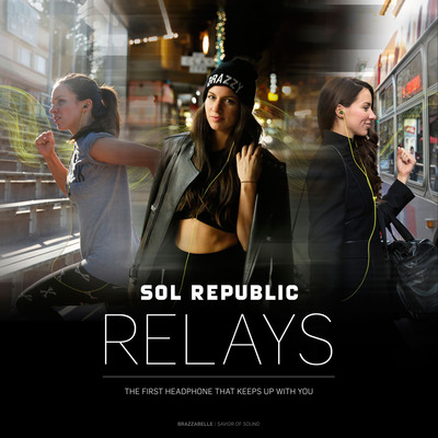 SOL REPUBLIC Introduces Relays, the First Cross-Over Headphone for Work, Play and Sport.  (PRNewsFoto/SOL REPUBLIC)