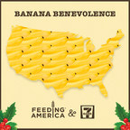 7-Eleven supports Feeding America by donating 10 cents for every two bananas customers buy for local food banks.