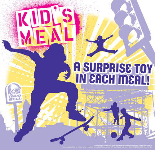 Taco Bell(R) announced that it will discontinue kid's meals and toys at its U.S. restaurants, becoming the first national quick service restaurant chain to do so. Select restaurants will begin the removal in July, with nationwide implementation anticipated by January 2014.  (PRNewsFoto/Taco Bell Corp.)