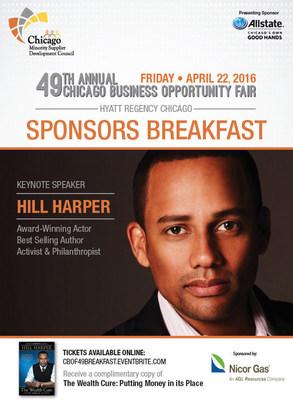Hill Harper to keynote CBOF49 Sponsors Breakfast April 22, 2016.