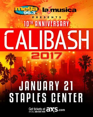 Don Omar, Nicky Jam, Prince Royce, Gente de Zona y otros artistas de renombre cantaran en la edicion especial del decimo aniversario de Calibash - el concierto de musica urbana latina mas importante del mundo