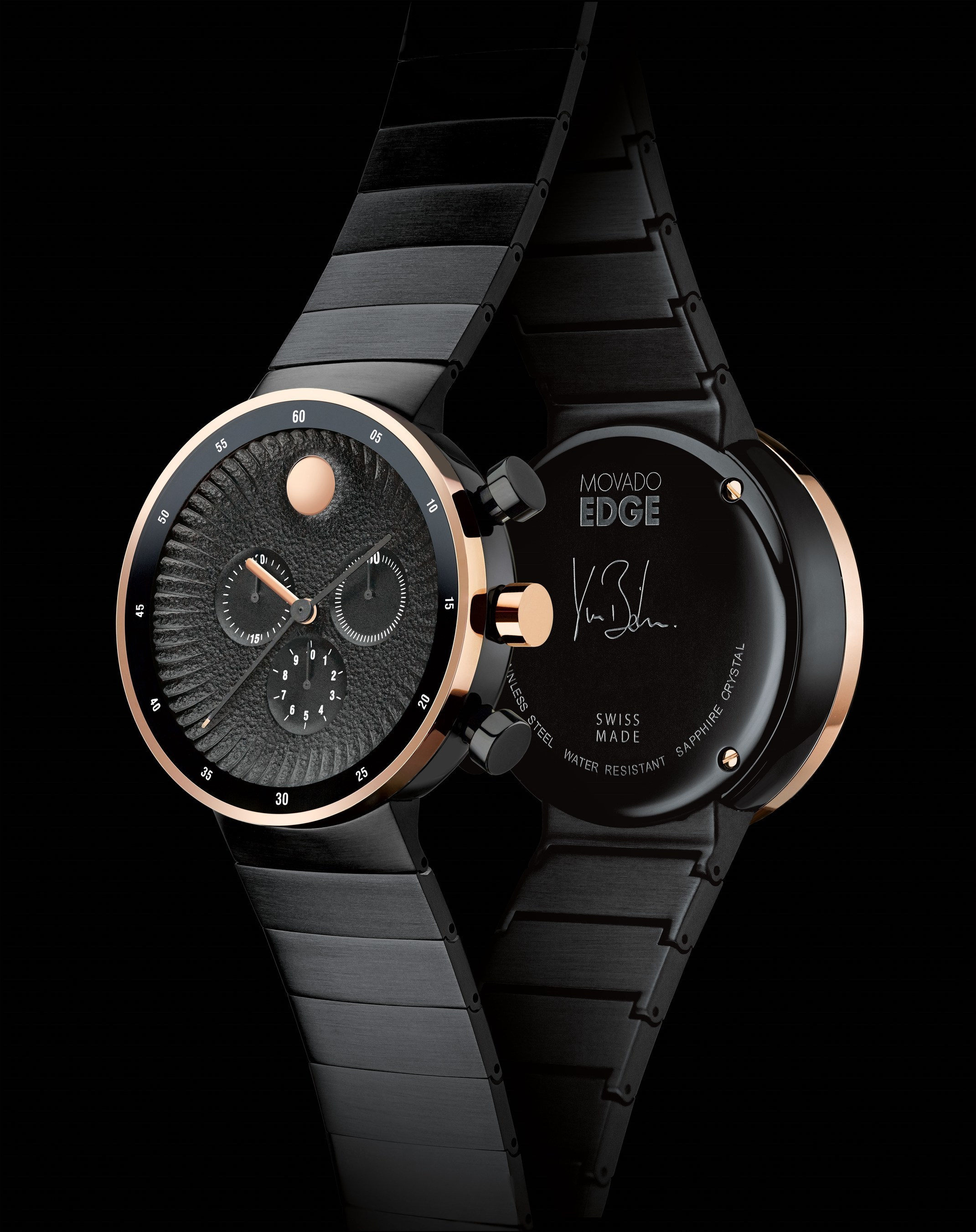 5a7ef4c4d ... to the legendary Museum Dial, created in 1947 by artist/design Nathan  George Horwitt, the Movado Edge collection premiered in 2015 to critical  acclaim.