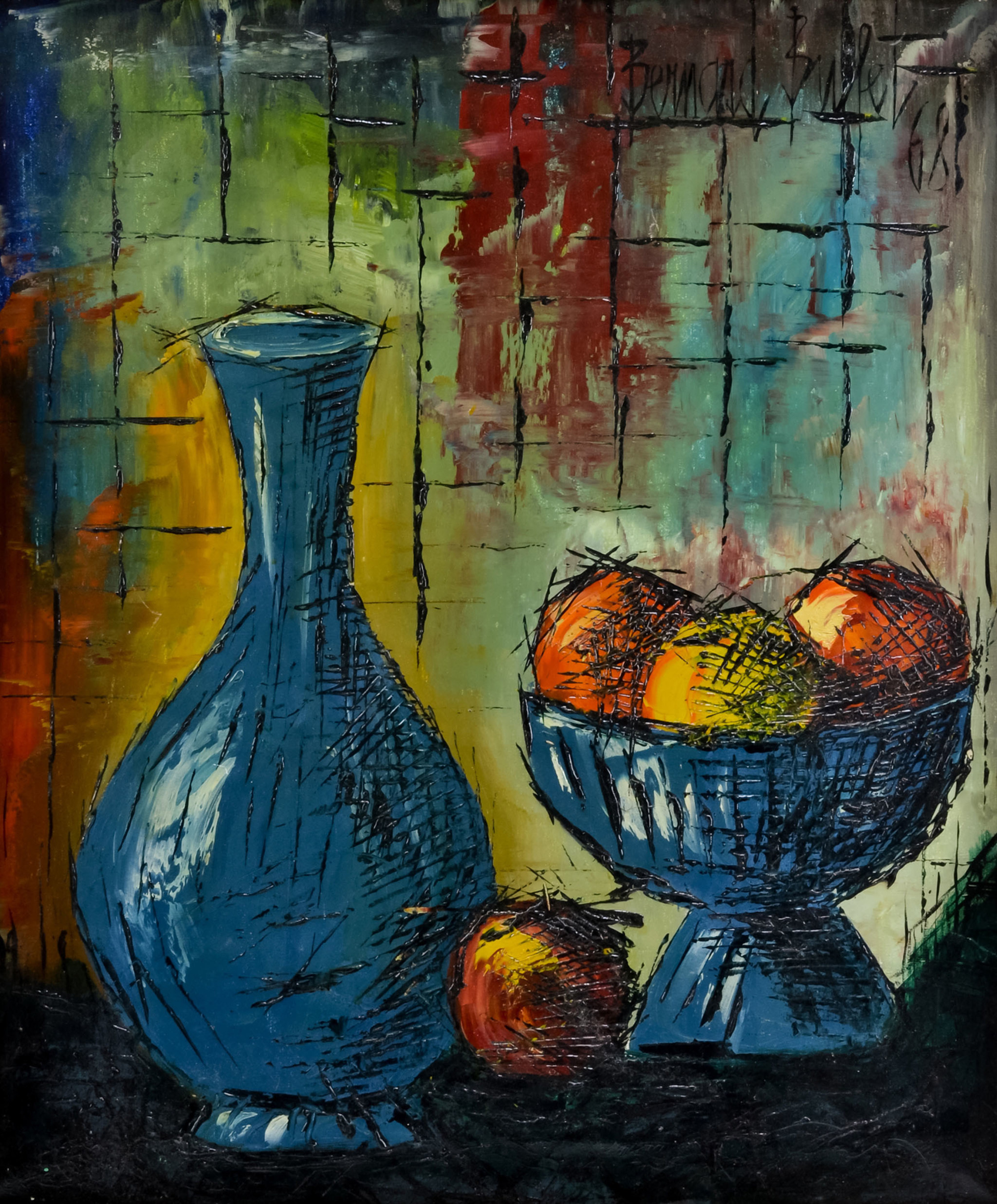 """J. Levine Auction & Appraisal's Summer Catalog Auction on Thurs., July 30 features many pieces of fine art, including several Diego Rivera pastels, four Dave McGary sculptures and this """"Still Life"""" oil painting by French artist Bernard Buffet. Bidders can register online now or bid on July 30 in person at the Scottsdale, Arizona auction house, online or via phone. www.jlevines.com"""