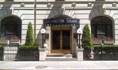 Washington Square Hotel entrance.  (PRNewsFoto/Washington Square Hotel)