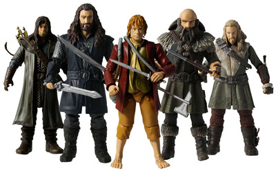 The Hobbit(TM) Action Figure Box Set from The Bridge Direct and Vivid Group. Photo courtesy of Warner Bros. Consumer Products.   (PRNewsFoto/Warner Bros. Consumer Products)