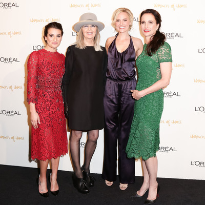 L'Oreal Paris ambassadors Lea Michele, Diane Keaton, Aimee Mullins and Andie MacDowell attend the eighth annual L'Oreal Paris Women of Worth celebration at The Pierre on December 3, 2013 in New York City.  (PRNewsFoto/L'Oreal Paris)