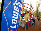 Over the past decade, Lowe's Heroes have donated thousands of volunteer hours in support of Habitat's work.  (PRNewsFoto/Lowe's)