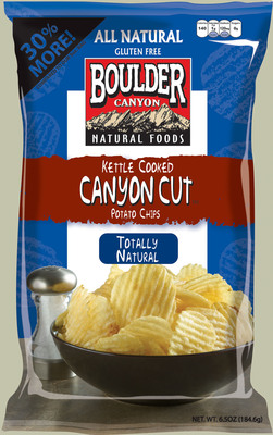 Boulder Canyon Natural Foods(R) has successfully enrolled its kettle-cooked potato chips in the Non-GMO Project. (PRNewsFoto/Inventure Foods, Inc.) (PRNewsFoto/INVENTURE FOODS, INC.)