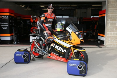 Yamaha Generators Serve as Official Power Partner for NGM Mobile Forward Racing Team (PRNewsFoto/Yamaha Motor Corp., U.S.A.)