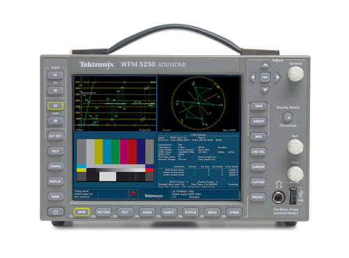 The Tektronix WFM and WVR5250 models are the only products in their respective classes to offer HDMI-HDCP inputs that enable broadcasters and video service providers to directly monitor the quality of the video and audio output of set-top boxes and Blu-ray players for the first time.  This unique capability makes the WFM/WVR5250 the most comprehensive, compact and portable video and audio test tools available for acquisition, post production and compliance monitoring.  (PRNewsFoto/Tektronix)