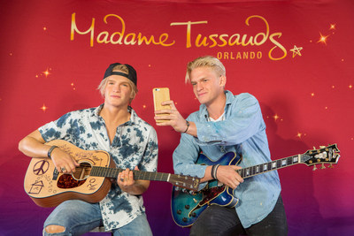 Orlando, Fla. - Mar. 18, 2015 - Australian-born singer-songwriter Cody Simpson came face-to-face with his new wax figure in Orlando, Fla. Simpson was surrounded by a group of fans, who entered a contest to win the chance for a meet-and-greet with the star, as he unveiled the new wax figure. Simpson met with Madame Tussauds artists where more than 300 precise measurements of his head and body were taken to create a perfect replica of the star. He also provided artists with clothing and accessories for his figure.