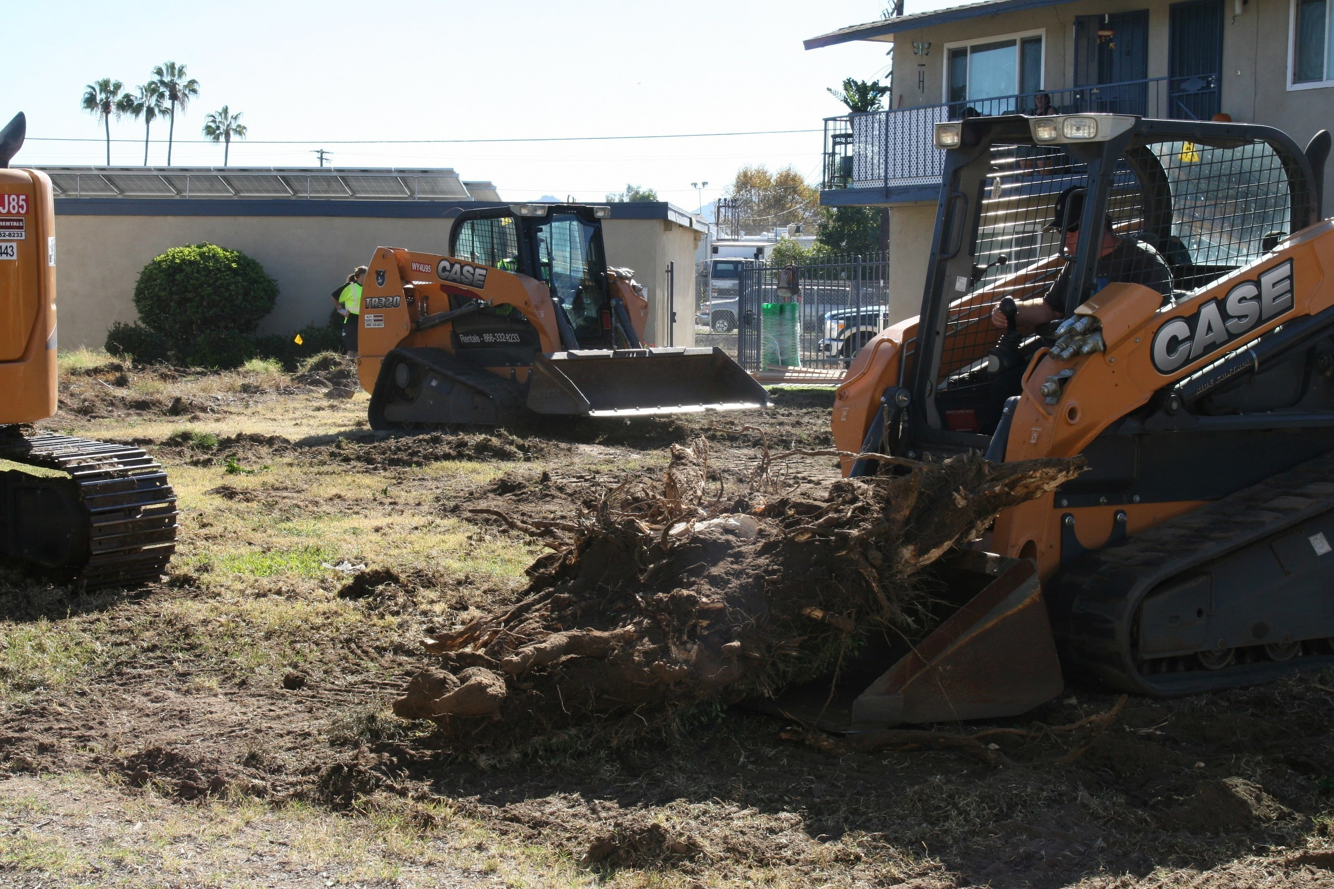 CASE Equipment working on the Aster Gardens project.