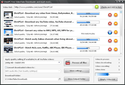 ChrisPC Free VideoTube Downloader.  (PRNewsFoto/Chris P.C. srl)