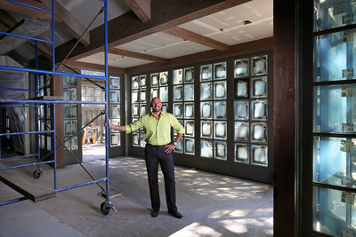 Director of Spa & Wellness Michael Conte in the new Meadowod Spa, opening Fall 2015.