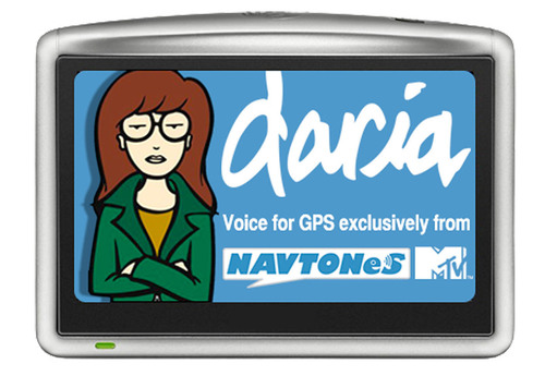 MTV's Daria brings her trademark sarcasm to downloadable voice directions for Garmin and TomTom GPS systems. SOURCE: NavTones.com.  (PRNewsFoto/NavTones.com)