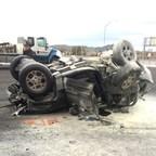 Accident scene photo of Erica Halter's vehicle