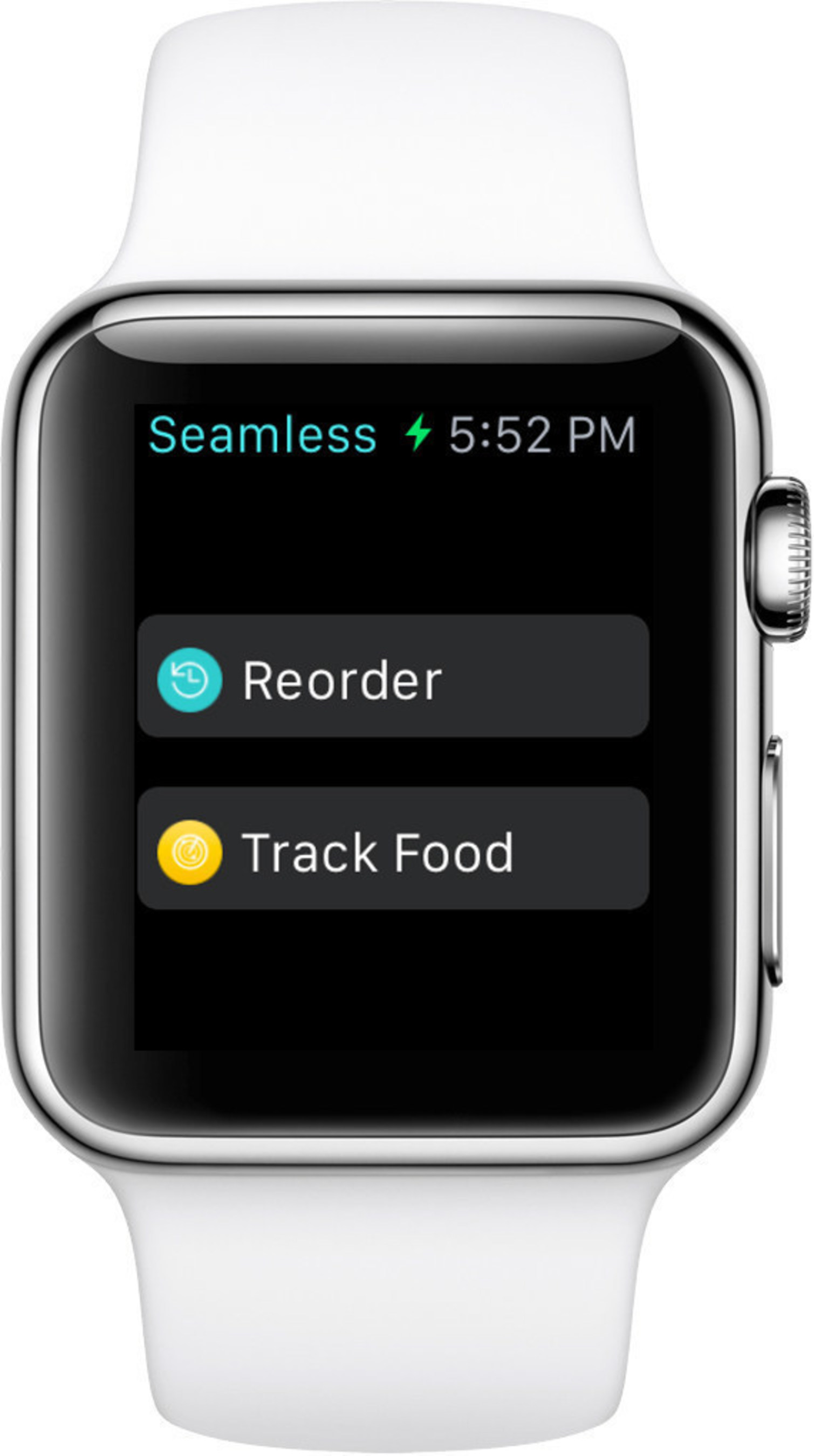 The Seamless Apple Watch app allows diners to reorder food and track orders.