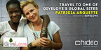 Oscar Winner Patricia Arquette and Chideo team up to raise money for GiveLove, the charity Arquette co-founded in 2010. Donate $10 to GiveLove on Chideo and enter to win a weekend with the actress at one of the charity's international project sites. This inspirational boots-on-the-ground experience will change the lives of all involved.