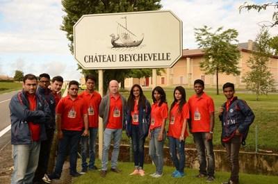 At Chateau Beychevelle (PRNewsFoto/IIHM)