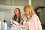 At a Los Angeles event on March 3, two friends send their long-distance besties a care package that includes new Dove Dry Spray Antiperspirant, an instantly drying deodorant that leaves underarms soft and smooth.