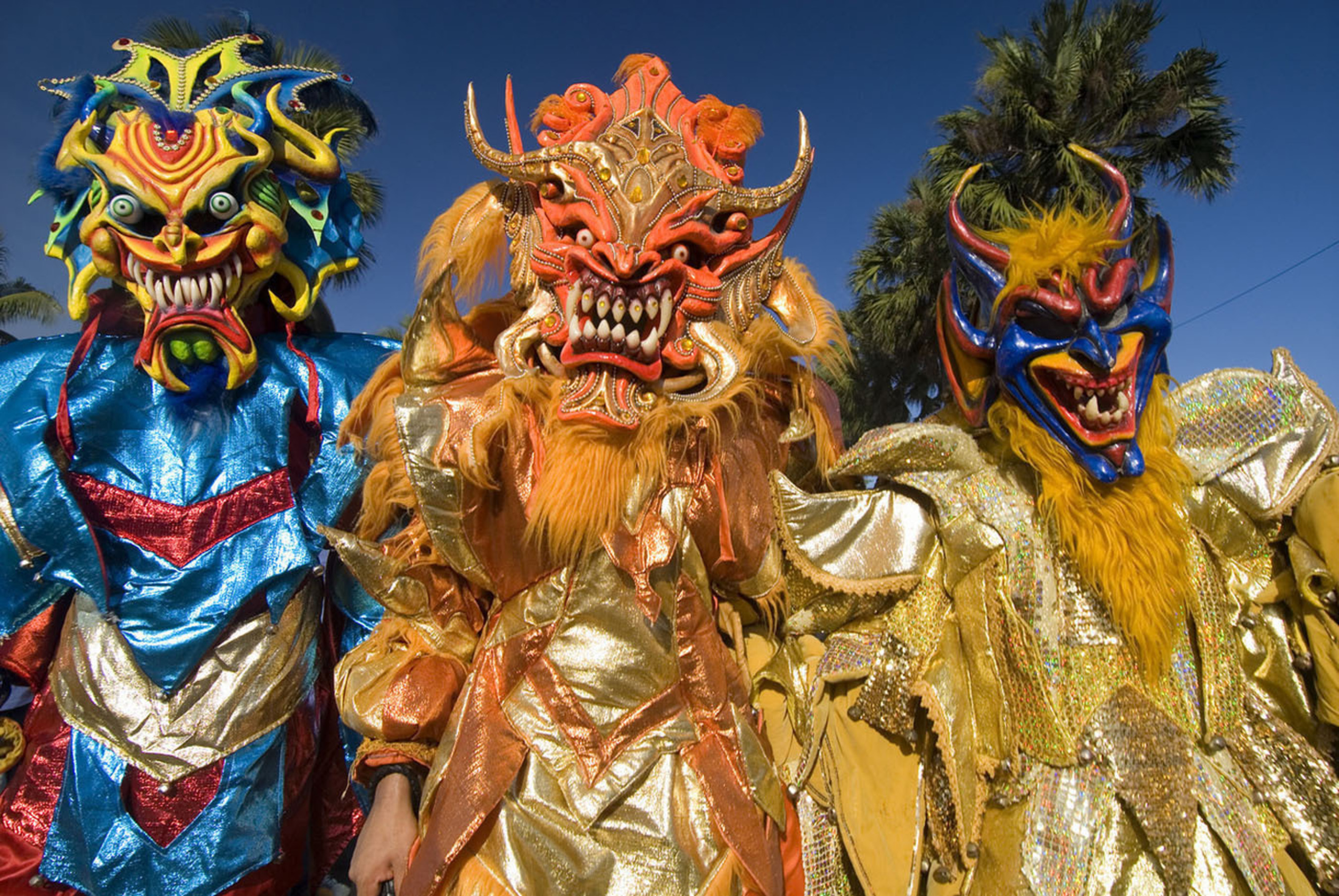 Come celebrate Dominican Republic's Carnival with us, where costumed devils, Merengue and joy abound.  (PRNewsFoto/Dominican Republic Ministry of Tourism)