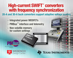 20-A TPS544B25 and 30-A TPS544C25 synchronous DC/DC buck converters from Texas Instruments include frequency synchronization for low-noise and reduced EMI/EMC and a PMBus interface for adaptive voltage scaling (AVS). The SWIFT(TM) converters integrate MOSFETs and feature small PowerStack(TM) QFN packages to drive ASICs in space-constrained and power-dense applications in various markets, including wired and wireless communications, enterprise and cloud computing, and data storage systems.