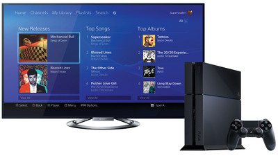 Sony Entertainment Network's Music Unlimited service on PlayStation 4. (PRNewsFoto/Sony Network Entertainment International) (PRNewsFoto/SONY NETWORK ENT. INTL)