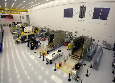 GPS III satellites in production at Lockheed Martin's GPS III Processing Facility near Denver.