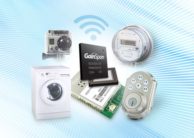 GainSpan Launches Industry First Wi-Fi and ZigBee IP Single Chip.  The new chip will accelerate the development and market adoption of home networked devices.  (PRNewsFoto/GainSpan Corporation)