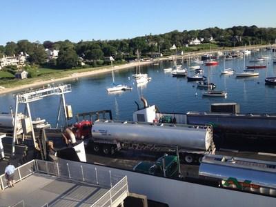 """Bomb Boat"" docked at Martha's Vineyard. Photo by Stephen Jones"