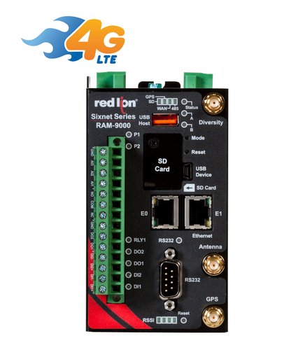 AT&T Certifies Red Lion's RAM® 9000 Industrial Cellular RTUs in North America