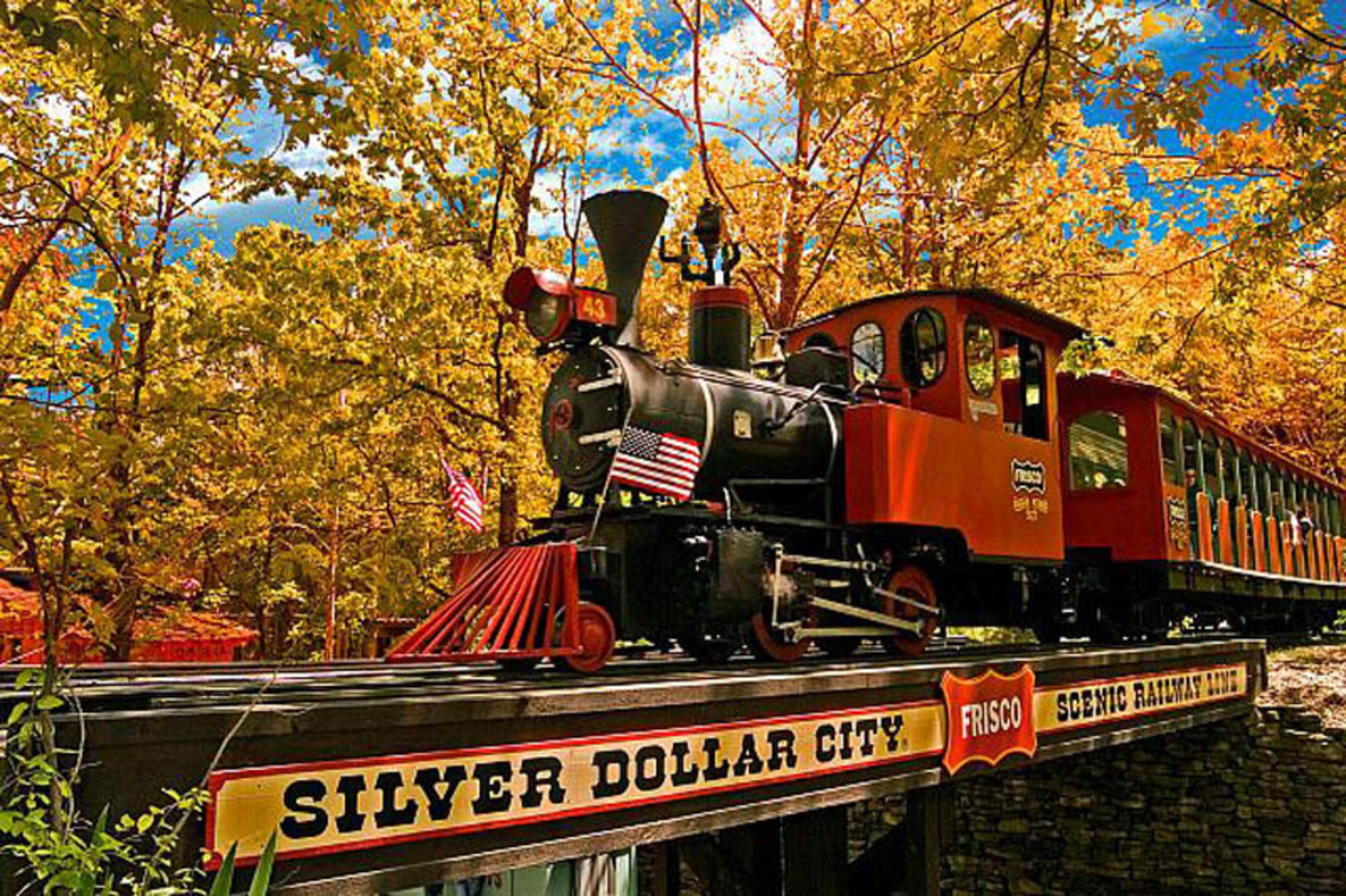 Silver Dollar City Train in Fall.  (PRNewsFoto/Reserve Direct)