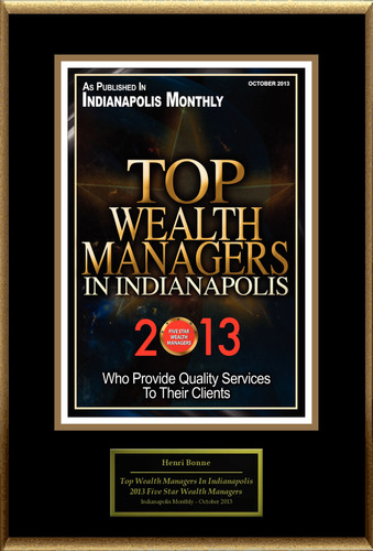 """Henri Bonne Selected For """"Top Wealth Managers In Indianapolis"""". (PRNewsFoto/American Registry) (PRNewsFoto/AMERICAN REGISTRY)"""