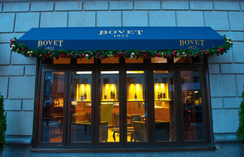 Exterior view of the BOVET 1822 Boutique at the Ritz Carlton, New York. (PRNewsFoto/BOVET 1822) (PRNewsFoto/BOVET 1822)
