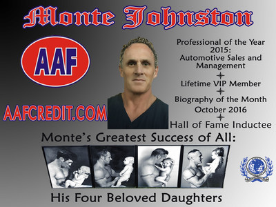 Monte Johnston Inducted Into the Strathmore's Who's Who Hall of Fame. Visit: www.affcredit.com