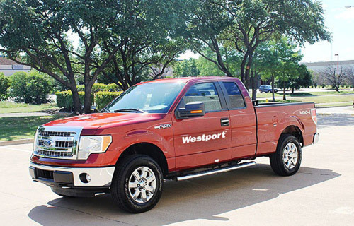 The only California Air Resources Board and EPA certified Ford F-150, featuring the Westport WiNG Power System, is being debuted during the Alternative Clean Transportation Expo (ACT) this week. (PRNewsFoto/Westport Innovations Inc.)