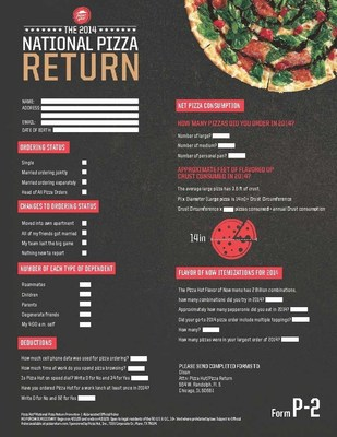 Pizza Hut P2 Form
